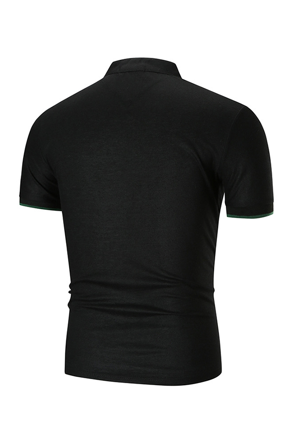 Lovely Casual Black Polo Shirt