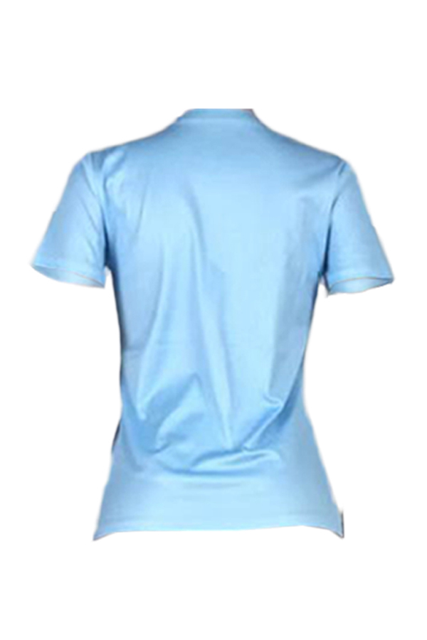 Lovely Stylish Lip Printed Baby Blue T-shirt