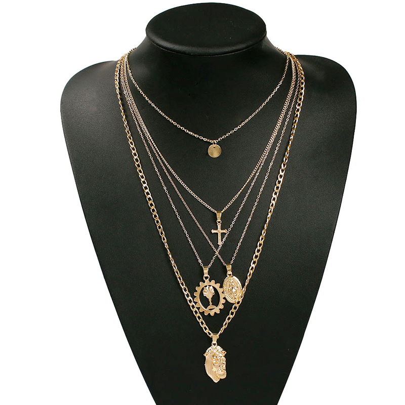 Lovely Casual Layered Gold Necklace