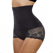 Lovely Trendy Patchwork Black Panties