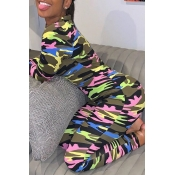 Lovely Trendy Camouflage Printed One-piece Jumpsui