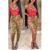 Lovely Leisure Printed Yellow Pants
