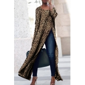 Lovely Leisure Printed Side Slit Printed Blouse