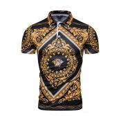 Lovely Casual Turndown Collar Multicolor Polo Shir