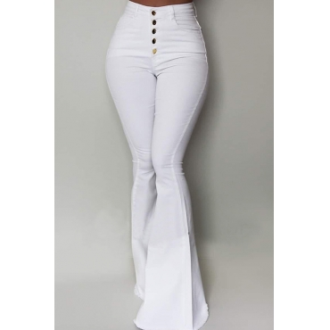 Lovely Chic Buttons Design Pants