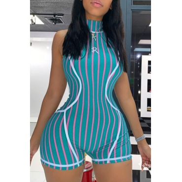 Lovely Casual Striped Multicolor One-piece Romper