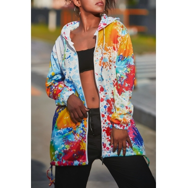 Lovely Casual Printed White Jacket