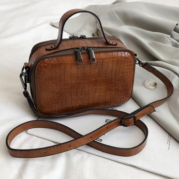Lovely Casual Brown Messenger Bag