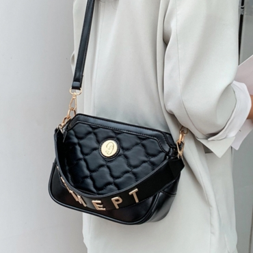 Lovely Trendy Letter Black Messenger Bag
