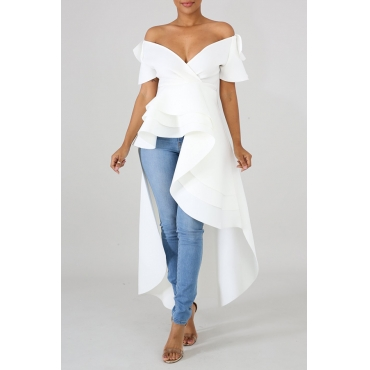 Lovely Work Asymmetrical White Blouse