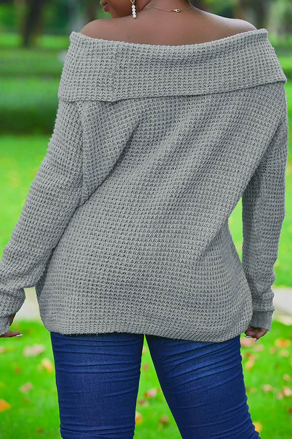 Lovely Work Loose Grey Sweater