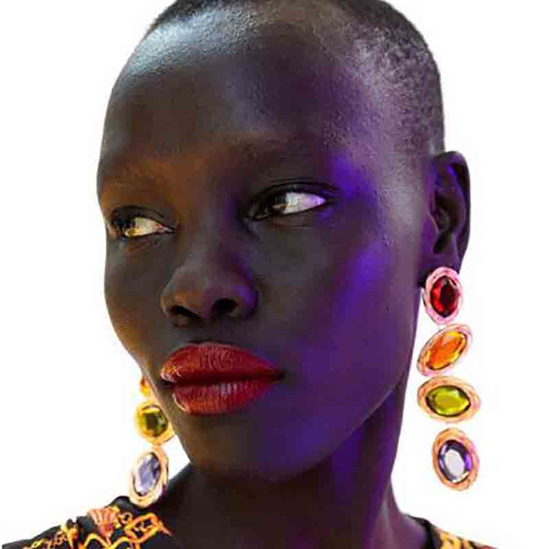 Lovely Retro Multicolor Alloy Earring