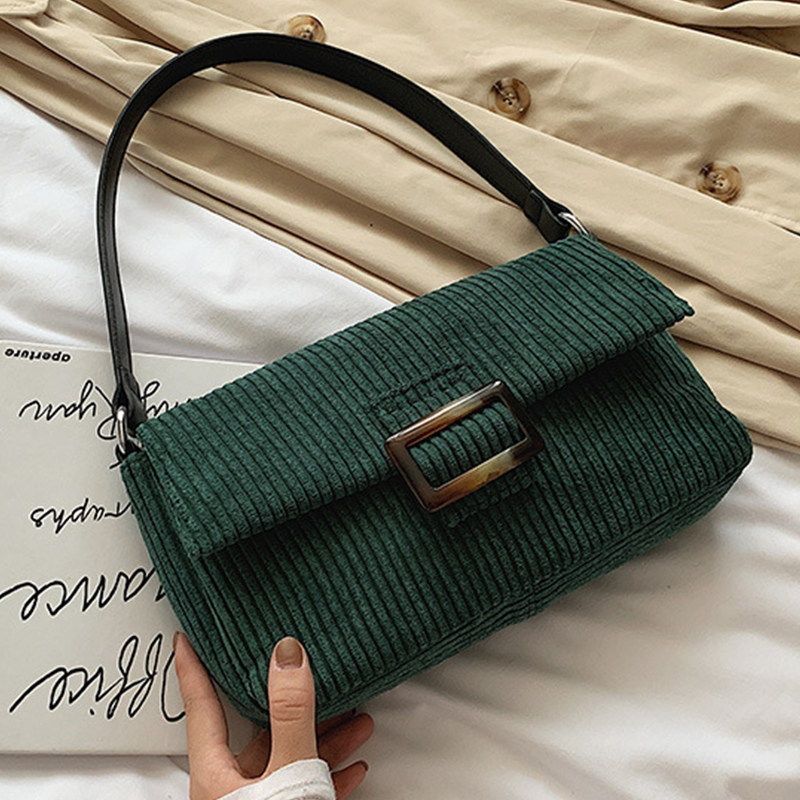 Lovely Trendy Basic Green Messenger Bag