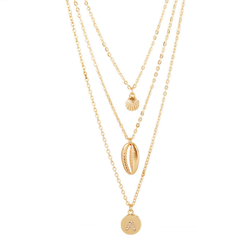Lovely Trendy Gold Alloy Necklace