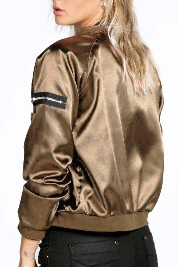 lovelywholesale / Lovely Casual Basic Zipper Design Yellow Jacket