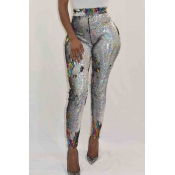 Lovely Trendy Sequined Multicolor Pants