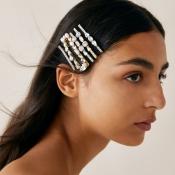 Lovely Trendy Rhinestone Decorative Gold Hairpin