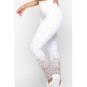 Lovely Sportswear Printed White Leggings