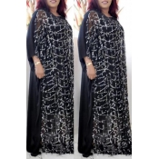 Lovely Casual Sequined Black Plus Size Two-piece S
