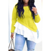 Lovely Work Patchwork Yellow Blouse