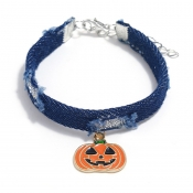Lovely Cosplay Pumpkin Blue Necklace