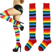 Lovely Sweet Striped Multicolor Bodystocking