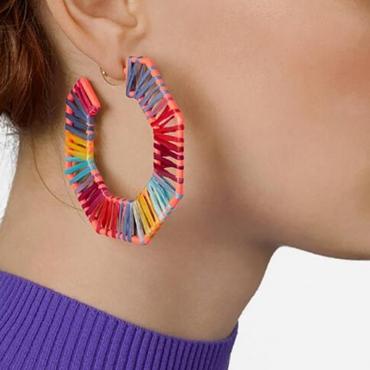 Lovely Trendy Geometric Multicolor Earring