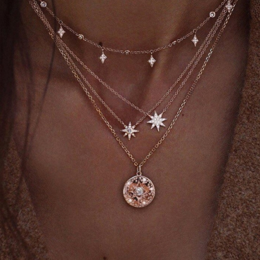 Lovely Casual Gold Alloy Necklace