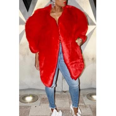 Lovely Sweet Winter Red Coat