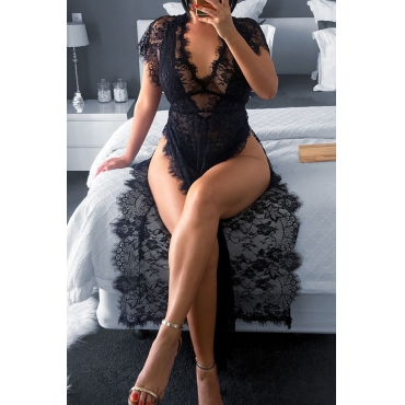 Lovely Sexy See-through Black Gowns