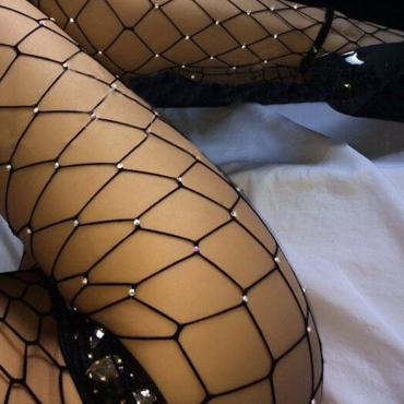 Lovely Sweet Hollow-out Black Bodystocking
