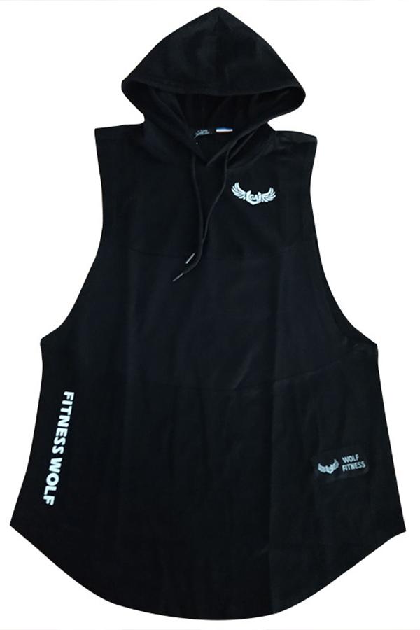 Lovely Street Printed Black Vest