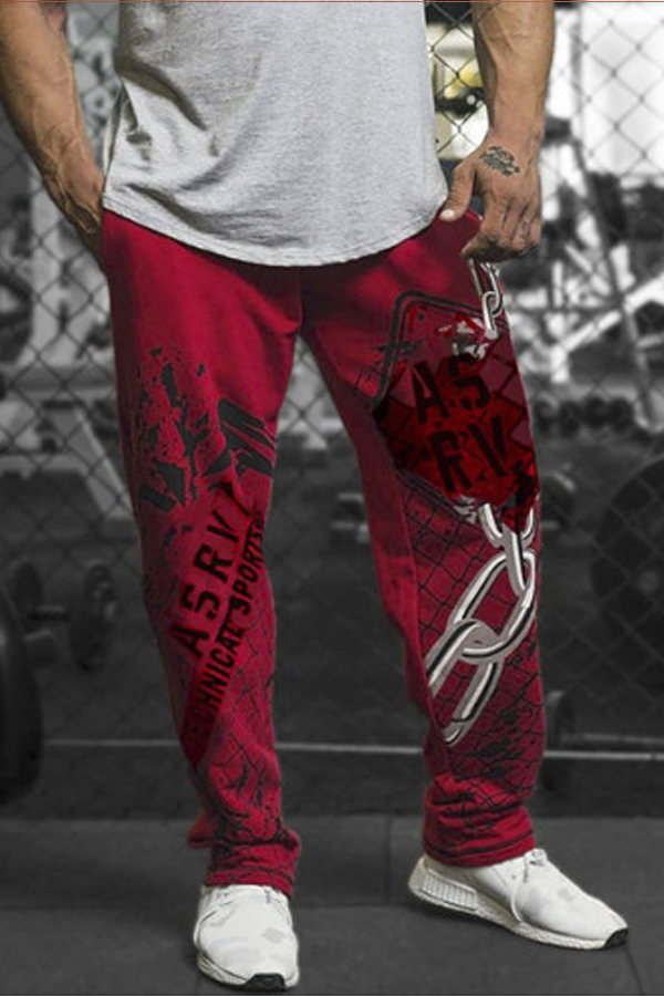 Lovely Street Printed Red Shorts