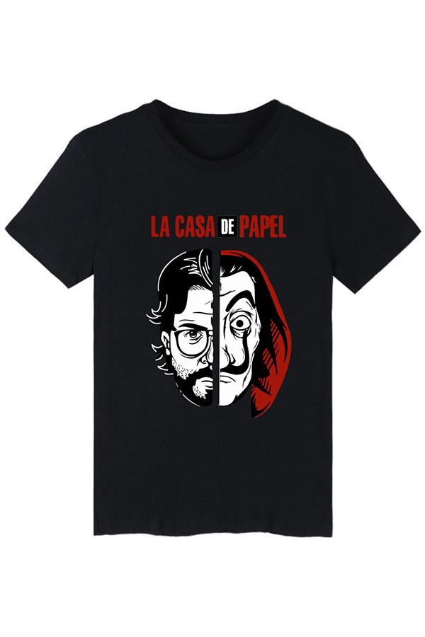 Lovely Trendy Printed Black T-shirt