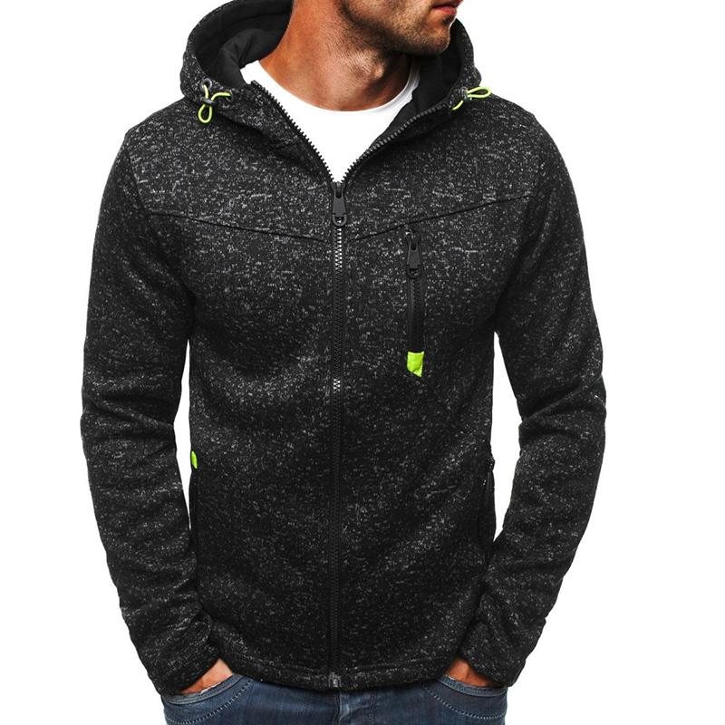 Lovely Casual Hooded Collar Zipper Design Black Hoodie