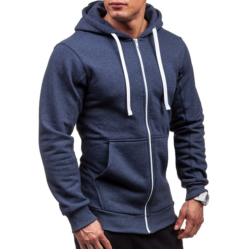 Lovely Casual Hooded Collar Navy Blue Hoodie
