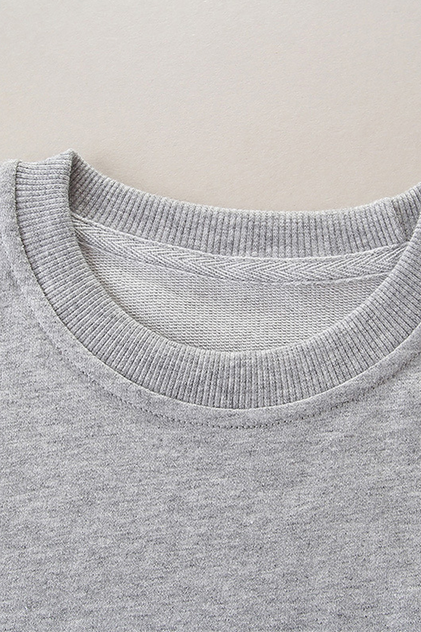 Lovely Casual Printed Light Grey Sweatshirt Girls Hoodie