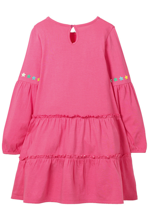 Lovely Christmas Day Pink Knee Length Girls Dress
