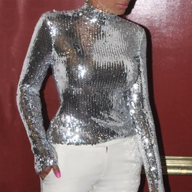 Lovely Trendy Skinny Silver T-shirt