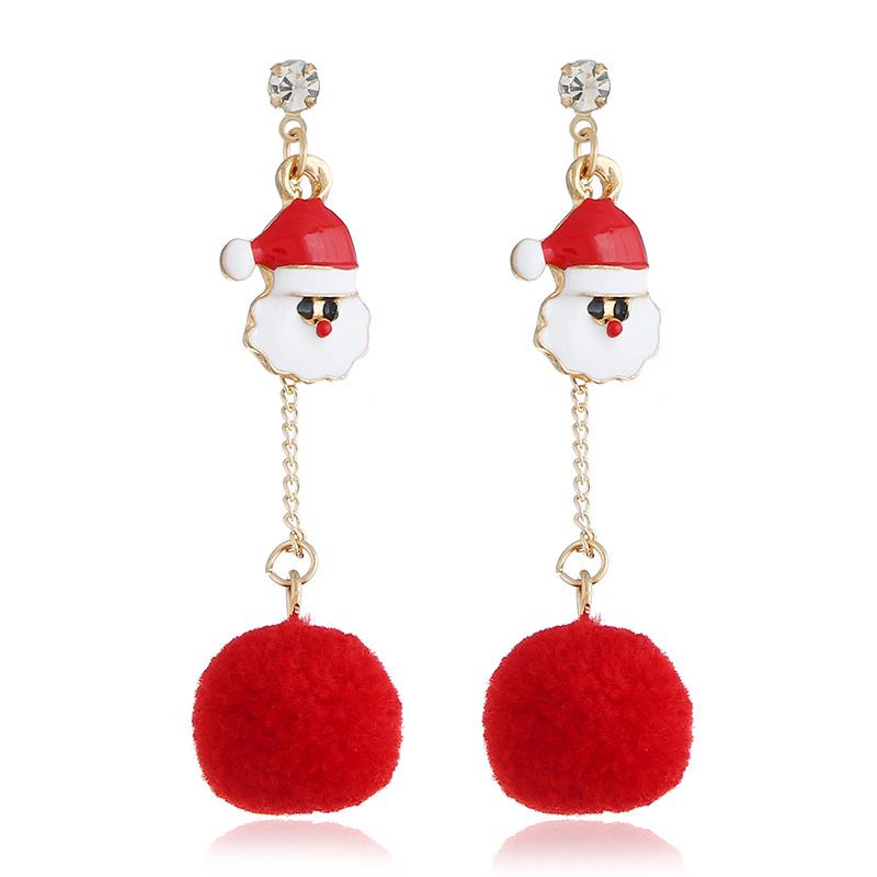 Lovely Christmas Day Red Earring