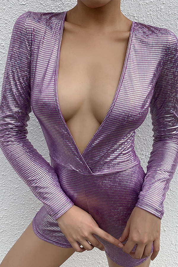 Lovely Sexy Deep V Neck One-piece Romper