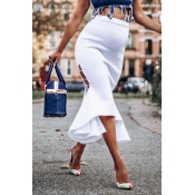 Lovely Trendy Hollow-out White Skirts