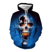 Lovely Trendy Hooded Collar Blue Hoodie