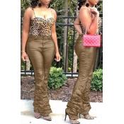 Lovely Casual Tassel Design Khaki Pants