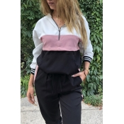 Lovely Sportswear Patchwork Multicolor Sweatshirt