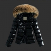 Lovely Casual Winter Short Black Coat