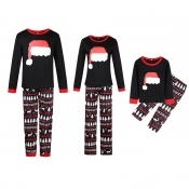 Lovely Family Mother Printed Black Two-piece Pants