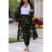Lovely Trendy Camouflage Printed Two-piece Pants S