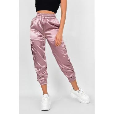 Lovely Casual Drawstring Pink Pants