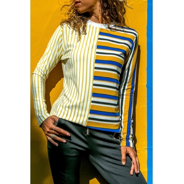 Lovely Leisure Striped Yellow T-shirt